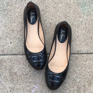 Cole Haan Nike Air Black Patent Leather Flats 8